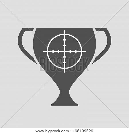 Isolated Award Cup With A Crosshair