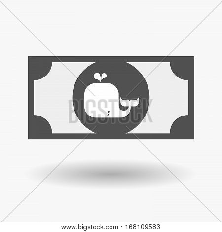 Isolated  Bank Note With A Whale