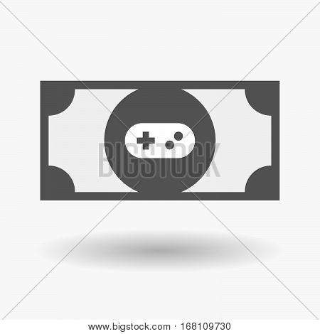 Isolated  Bank Note With A Game Pad