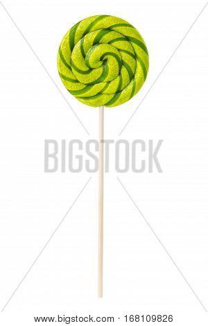 Sweet Lollipop With Green Stripes