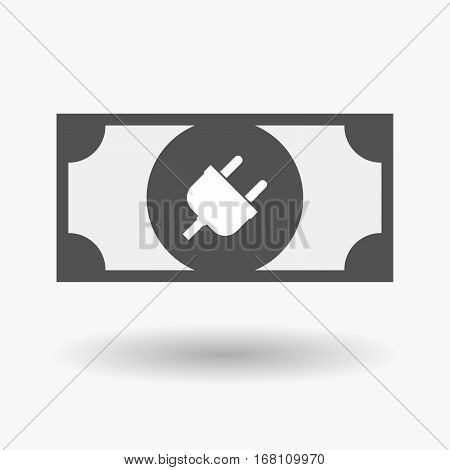 Isolated  Bank Note With A Plug