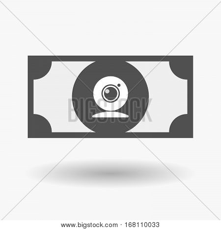 Isolated  Bank Note With A Web Cam