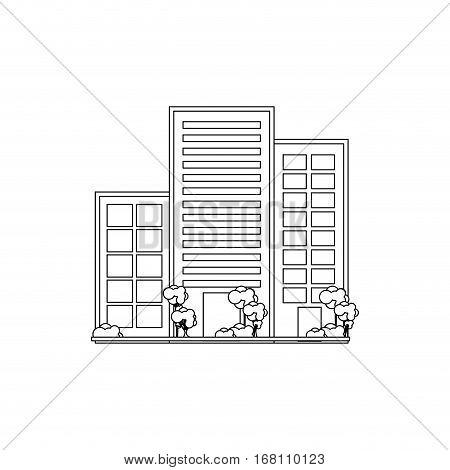 City Urban buildings icon vector illustration graphic design