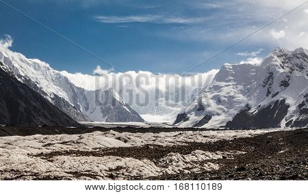 Big glacier in the Tian Shan mountains