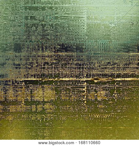 Abstract faded retro background or shabby texture with vintage style design and different color patterns: yellow (beige); brown; green; gray; cyan