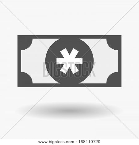 Isolated  Bank Note With An Asterisk