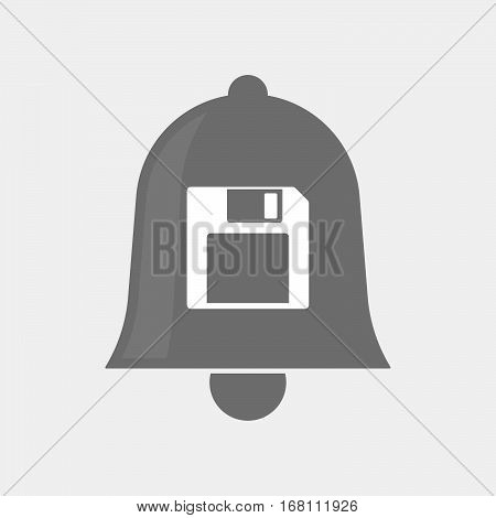 Isolated  Bell With A Floppy Disk