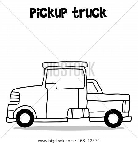 Collection of pickup truck transportation vector illustration