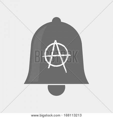 Isolated  Bell With An Anarchy Sign