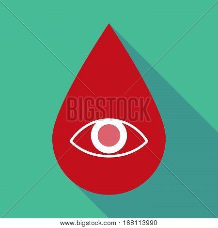 Long Shadow Blood Drop With An Eye