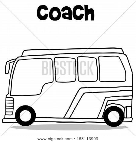 Coach bus of transportation vector collection stock