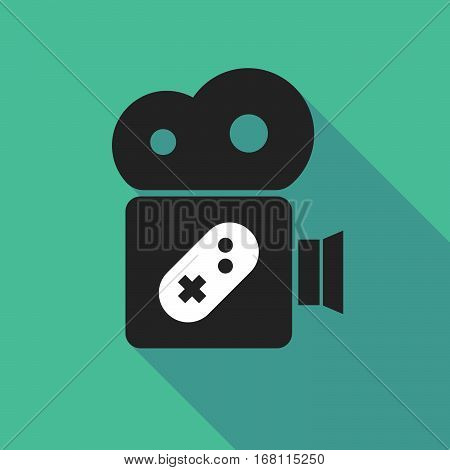 Long Shadow Cinema Camera With A Game Pad
