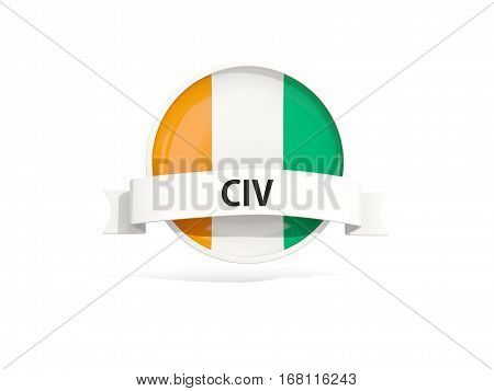 Flag Of Cote D Ivoire With Banner