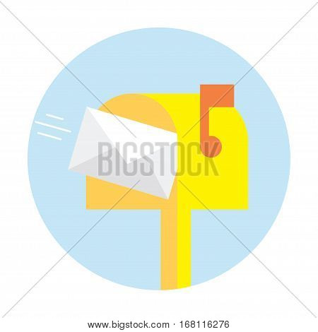 Mailbox. Vector flat icon. Object on white background.