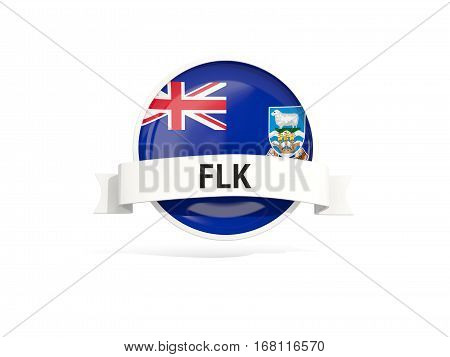 Flag Of Falkland Islands With Banner