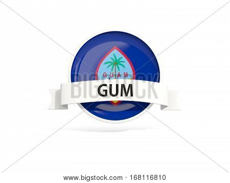 Flag Of Guam With Banner