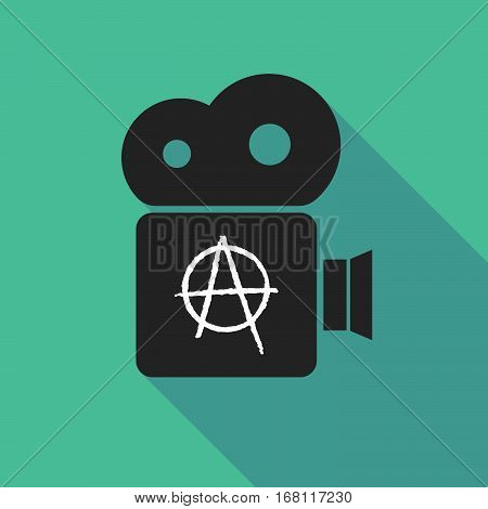 Long Shadow Cinema Camera With An Anarchy Sign