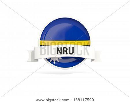 Flag Of Nauru With Banner