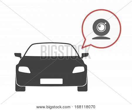 Isolated Car With A Web Cam