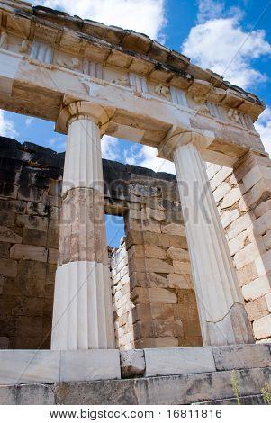 Apollo temple. Delphi. Greece