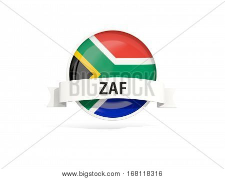 Flag Of South Africa With Banner