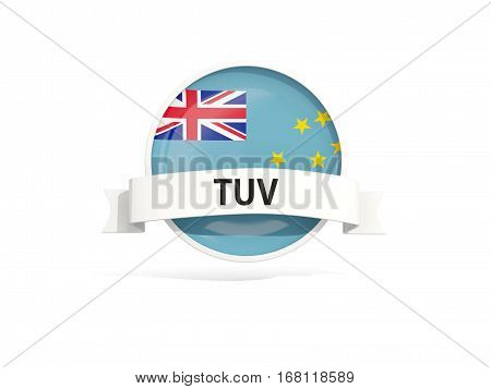 Flag Of Tuvalu With Banner
