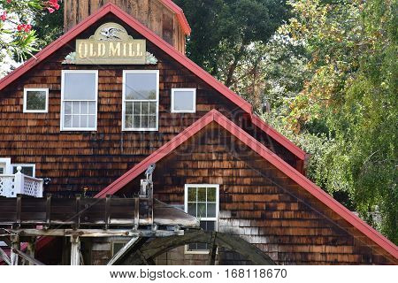 San Luis Obispo USA - july 14 2016 : an old water mill