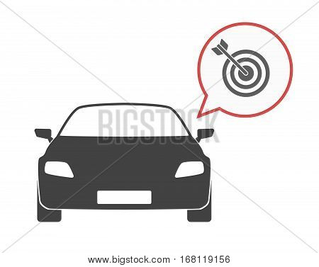 Isolated Car With A Dart Board