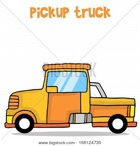 Cartoon pickup truck vector art collection stock