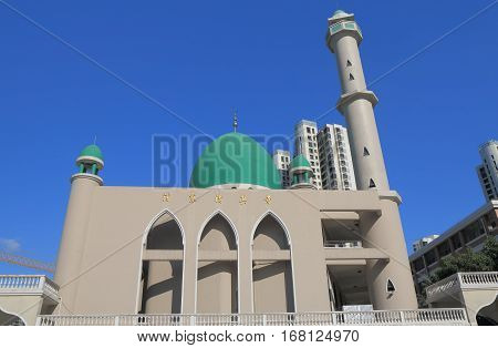 Pudong Mosque in Shanghai China. Pudong Mosque was originally constructed in 1936