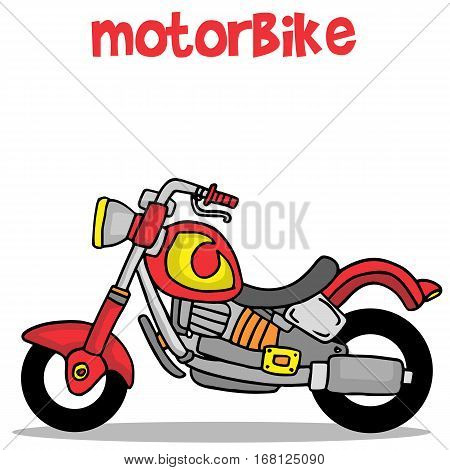 Transportation of motorbike cartoon collection vector art
