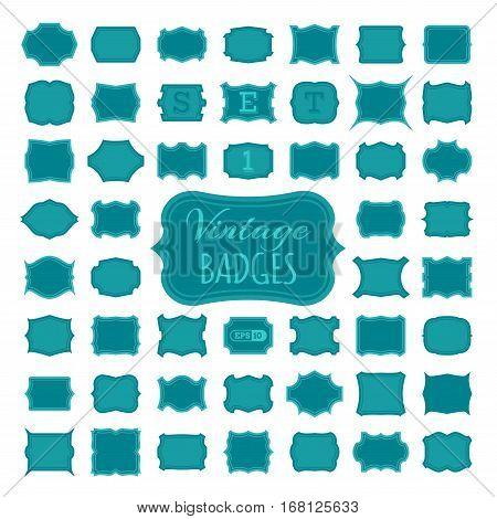 Set 1. 50 Vintage Badges.