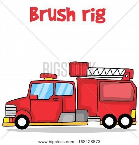 Illustration vector of brush rig collection stock