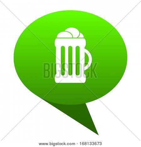 beer green bubble web icon