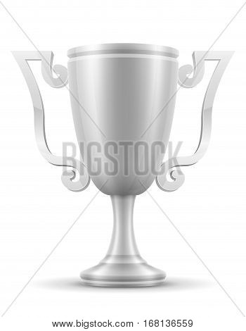 Cup Winner Silver Stock Vector Illustration