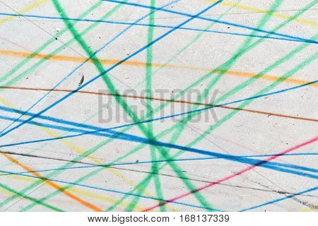 Scribble drawing with colorful lines suitable for background