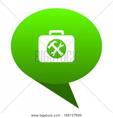 toolkit green bubble web icon