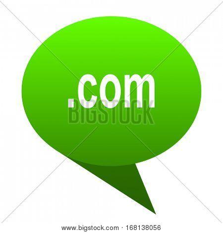 com green bubble web icon