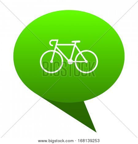 bicycle green bubble web icon
