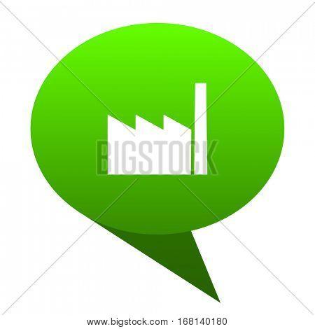 factory green bubble web icon