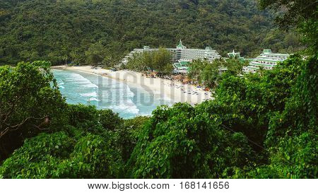 Beach near the hotel. Hotel with access to the sea. Hotel in the jungle.Hhotel with sea view. Hotel booking.