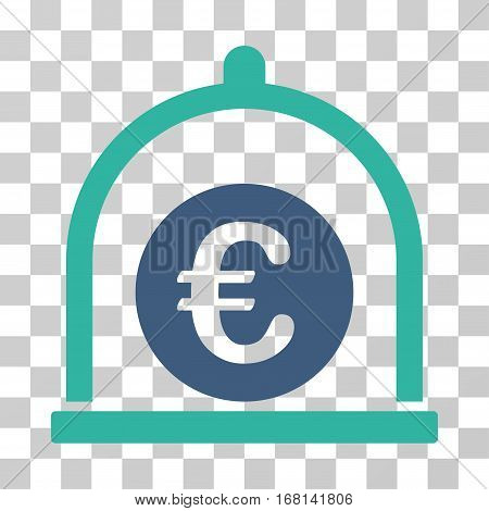 Euro Standard icon. Vector illustration style is flat iconic bicolor symbol, cobalt and cyan colors, transparent background. Designed for web and software interfaces.