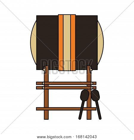 buk drum instrument icon over white background. colorful design. vector illustration