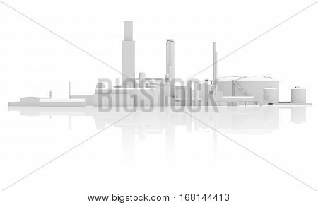 Abstract Industrial Facility 3 D Model