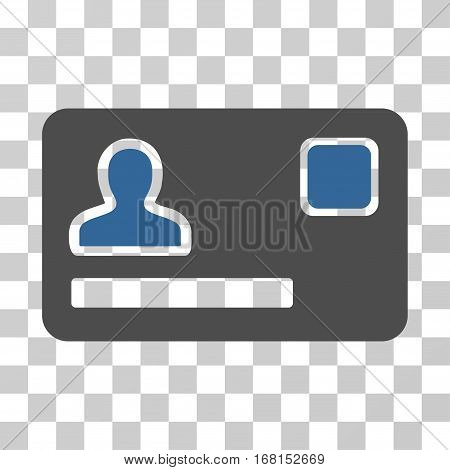 Banking Card icon. Vector illustration style is flat iconic bicolor symbol, cobalt and gray colors, transparent background. Designed for web and software interfaces.