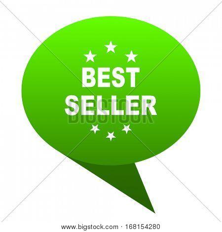 best seller green bubble web icon