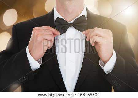 Close-up Of A Man In A Tailcoat With A Bow Tie
