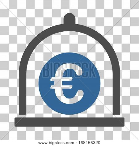 Euro Standard icon. Vector illustration style is flat iconic bicolor symbol, cobalt and gray colors, transparent background. Designed for web and software interfaces.