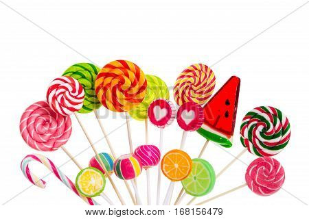 Different Colorful Lollipops