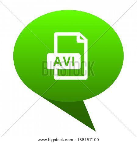 avi file green bubble web icon.